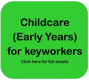 Childcare for keyworkers